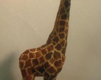 Giraffe wood Carving( жираф- резьба по дереву)