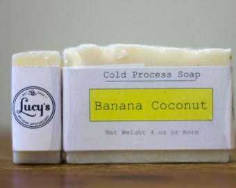 Banana Coconut Cold Process Soap
