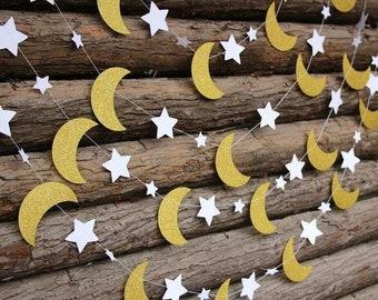 GLITTER STARS & MOONS