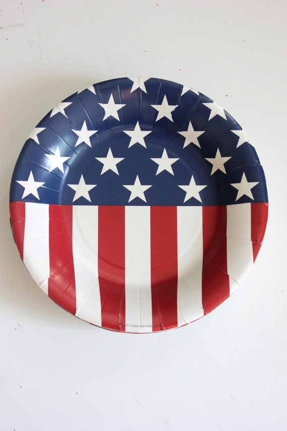 & Sale Set 20 RED WHITE u0026 BLUE Paper Plates 4th Fourth of July