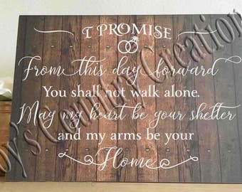 I promise from this day forward SVG, PNG, JPEG