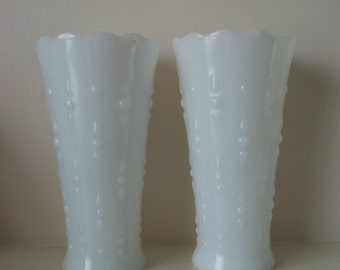Vintage Milk Glass collection of 2