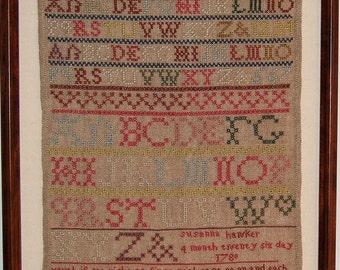Susanna Hawker 1787 Sampler Chart
