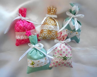 50 Lavender bags with personalized ribbon / Lavender sachet with custom binding Ribbon anniversary Collection - 18 - majority