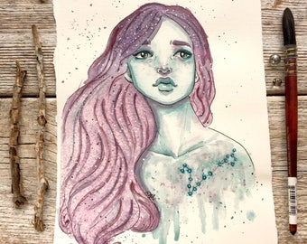 pisces woman // space galaxy, Astrology woman, horoscope galaxy, space constellation