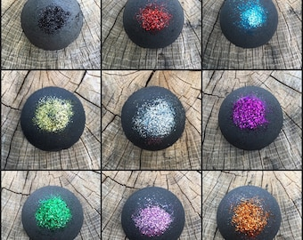 Black Bath Bomb Bubble Bath Bomb Glitter Bath Bomb Fun Bath Bomb Black Bath Fizzy