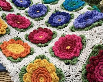 Baby Blanket Crochet Patterns Flower Blanket Pattern Crochet Squares Pattern Pram Blanket Most Beautiful Crochet Flower Pattern