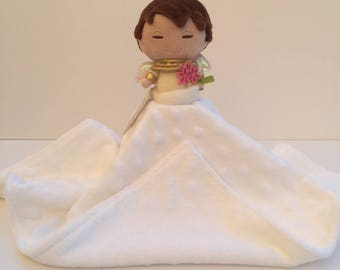 Ultra Plush and Snuggly Angel Lovey Blanket