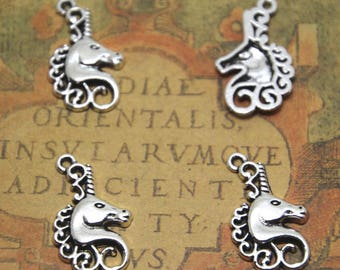 20pcs Unicorn Charms silver tone Unicorn Charms pendants 15x23mm ASD1736