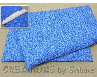 Heating Pack Corn Pillow With Washable Cover Blue Water Pattern Father's Day Gift Warm Hot Cold Freeze Cotton READY TO SHIP (544)