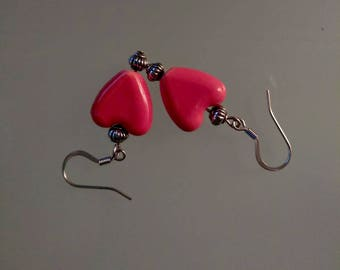 Heart Earrings, Valentine's Day, Birthday, Mother's Day gift