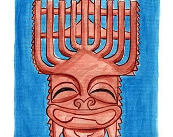 Happy Hanukkah Tiki Postcard set of 20