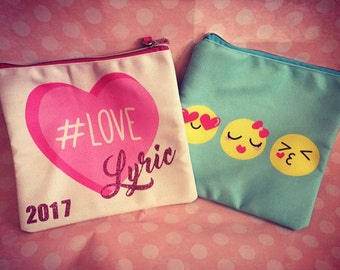 Easter gift, kids valentine gift, kids pencil pouch, personalized pencil pouch, kids pencil case, crayon case, crayon pouch