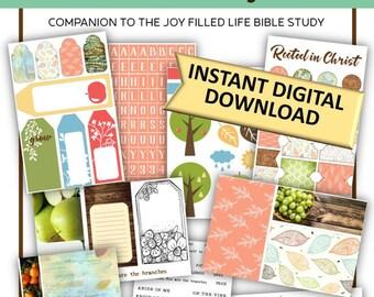 """Soul Inspired - """"Bearing Fruit"""" Bible Journaling Kit *DIGITAL*"""
