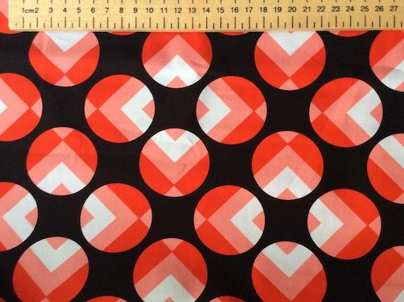 High quality cotton poplin, geometrical print