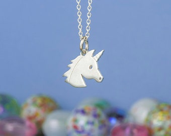 Unicorn Necklace Sterling Silver horse pendant Silhouette Kids Teen jewelry horse jewelry girls gift Birthday mothers day mythical