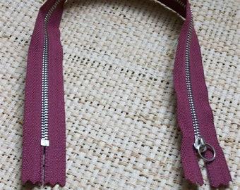 Zipper size 35, 5cm, purple-bordeaux-Burgundy wine color