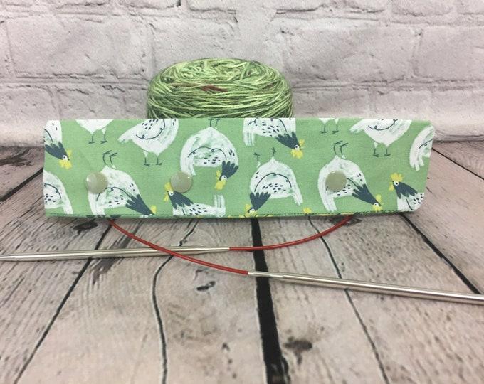"""Chickens Knitting Needle Holder,  6-8"""" DPN Holder for Knitting, Circular Needle Holder, DPN needle holder, Circular holder"""