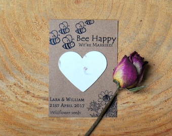 10 Personalised wildflower seed wedding favours, seed packets, eco wedding favour, seeds, wedding favour, rustic wedding, green wedding