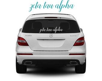 Zeta Tau Alpha, ZTA, Zeta Tau Alpha Sticker, Zeta Tau Alpha decal, sorority decal, sorority sticker, sorority gift, big little, greek gift