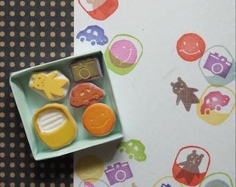 Gashapon Stamp Set, Gachapon Stamp Set, Capsule Toys Stamp Set