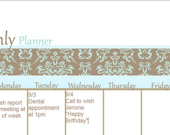 Editable Monthly Calendar / Calendar Planner / Calendar / PDF Calendar
