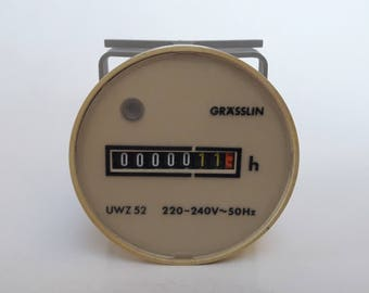 Vintage Grasslin UWZ 52 220-240V 50Hz Hour Meter Nos Made In West Germany