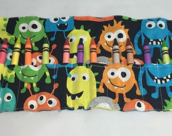 Monsters Crayon Roll