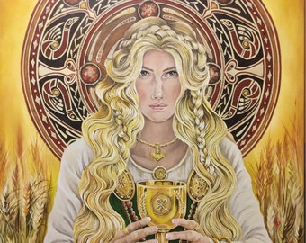 Goddess Sif Greeting Card