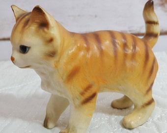 Vintage Red Tabby Cat Figurine