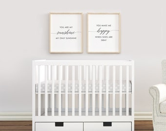 """Nursery Art Prints / """"You Are My Sunshine"""" /  by South + Willow Design"""