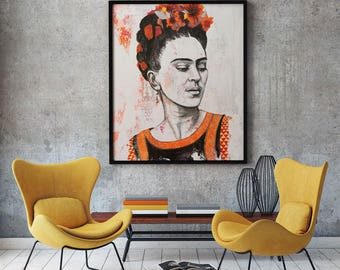 Frida Kahlo portrait print - poster