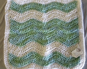 Newborn Carseat Blanket - Pastel Ripples