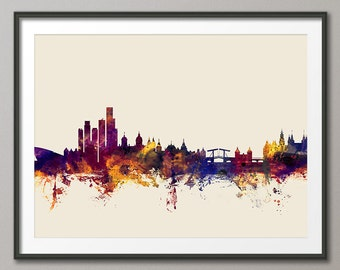 Amsterdam Skyline, Amsterdam The Netherlands Cityscape Holland, Art Print (1667)