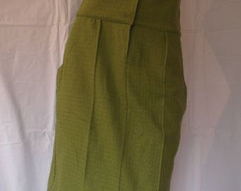 bronze green wool with polka dots skirt