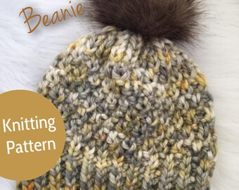 The Jo Beanie // Knitting Pattern // Fitted //Slouchy