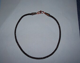 Black Copper Viking Knit Choker Necklace