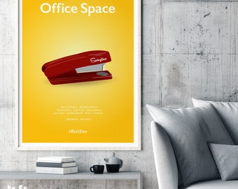Office Space Film Movie Poster Print, Mike Judge, Cult Film, Minimalist Movie Poster, Comedy Film Poster, Office Space