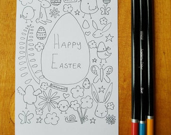 Easter Colour-in