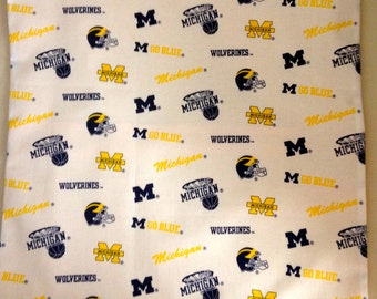 """Michigan """"Wolverines"""" Pillow Case/Cover"""