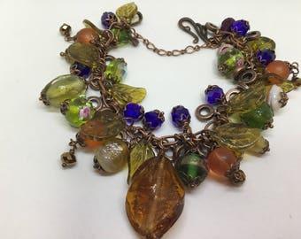 Antique Copper Vintage Style Bracelet.