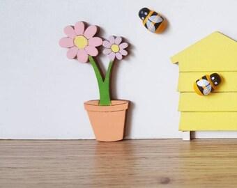 Fairy door Flower pot - fairy door accessory - fairy door extra - make believe pretend play elf door  miniature fairy house -doll house -