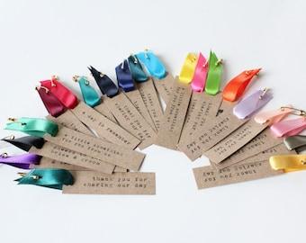 Custom Hang Tags With Satin Ribbon - Set of 50
