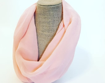 FALL CLEARANCE - Infinity Scarf - Pastel Orange