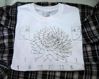 t-shirt aloe vera fibonacci golden spiral sacred geometry