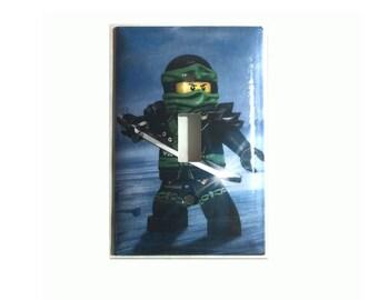 Lego Ninjago Green Lloyd Ninja Toggle, Rocker Light Switch Power Duplex Outlet Cover Plate home decor