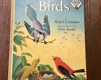 Bird field guide All About Birds vintage gift midcentury book mcm
