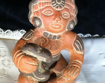 Clay Pottery Mayan Figurine