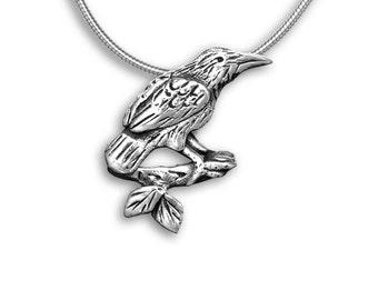 Sterling Silver Raven Pendant