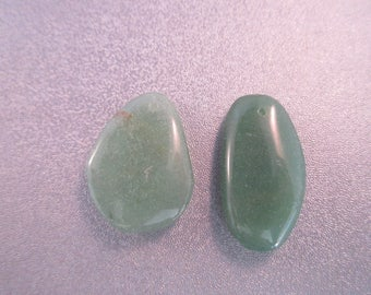 Aventurine Nuggets Top Drilled Pendants 2pcs